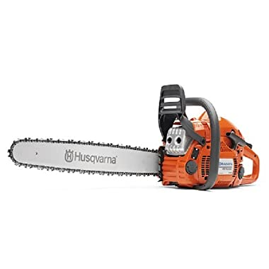 "Husqvarna 450E Rancher 20"" Gas Powered Chain Saw with Duro Bar, 967651201"