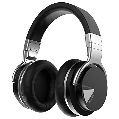 Francois et Mimi ANC Active Noise Cancelling Wireless Bluetooth Headset - HQ Audio Over-Ear Rechargeable Stereo Headphones - Microphone & Volume Control Function - 3.5mm Jack Audio Cable Included