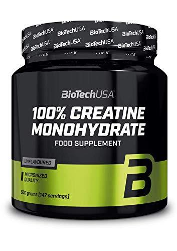 BioTechUSA 100% Creatine Monohydrate Complemento alimenticio en polvo sin sabor a base de...