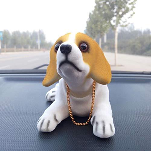 N / A Perro Mueve Cabeza para Coche Lindo Creativo del Coche de la muñeca Principal de Sacudida Perro Ornamentos del Coche del Interior del Tablero de Instrumentos Bobble Accesorios for automóviles