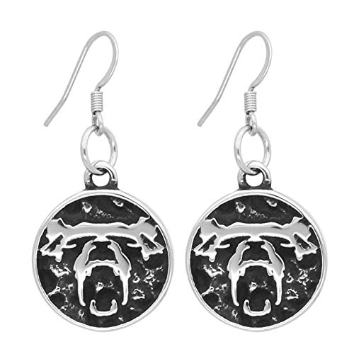Special Wolf Women's Earrings, Titanium Steel Tassel Earrings, Korean Style Simple And Fashionable, Perfect Holiday Gifts For Women Silver