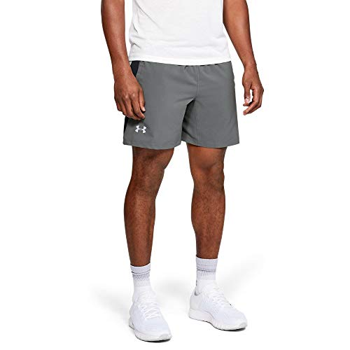 Under Armour UA Launch SW 2-in-1 Short Homme, Gris, XL