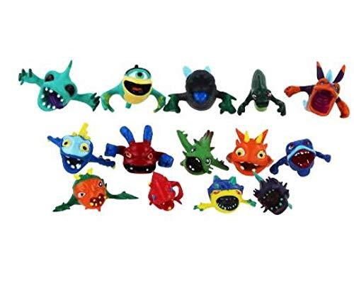 PsWzyze 24/14 Piezas/Set Slugterra Figuras de acción Anime Figuras de acción Juguetes muñecas babosas niños niños niños juguete-14 Piezas