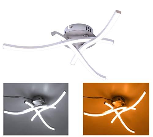 Lamparas De Techo Modernas, Lamparas De Techo LED, LáMpara De ArañA Luz Con 3 Luces Curvas, 21W Blanco CáLido/Blanco Frío