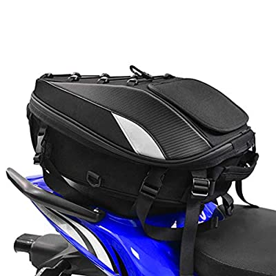 Motorcycle Seat Bag Tail Bag - Dual Use Motorcycle Backpack Waterproof Luggage Bags Motorbike Helmet Bag Storage Bags by Fast pro