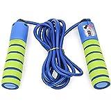 Cuerda para saltar profesional de ajuste cruzado Velocidad de salto Cuerdas para saltar ponderadas Mango antideslizante Contando Cuerda para saltar Equipos de entrenamiento para entrenamiento Amarillo