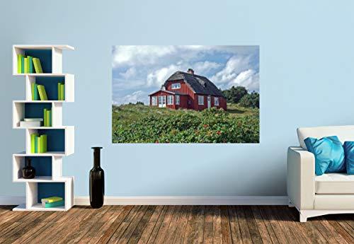 Premium Foto-Tapete Ein typisch Dänisches Ferienhaus in Vejers Strand (versch. Größen) (Size S | 186 x 124 cm) Design-Tapete, Wand-Tapete, Wand-Dekoration, Photo-Tapete, Markenqualität von ERFURT