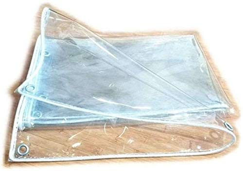 Transparente lona Lona, a prueba de agua for trabajo pesado Lona Hoja Refugio Vinilo Lona Cubierta de protección UV for el jardín al aire libre RV camping de camiones y remolques-2m * 3m, Tamaño Nombr