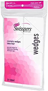 Swisspers Premium Cosmetic Wedges, Latex-Free Makeup Wedge, 32 per Package, Pack of 6 (Total Count 192)