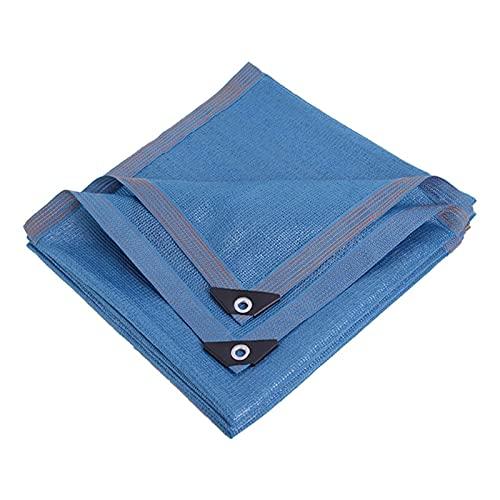 KHUY Toldos Vela Exterior, Toldos Exterior Terraza para Plantas, Toldo Vela Rectangular para Patios Pantalones Malla Sombreo de Jardín, Sombra Vela Sombra Toldos Baratos (Color : Blue, Size : 4x4m)