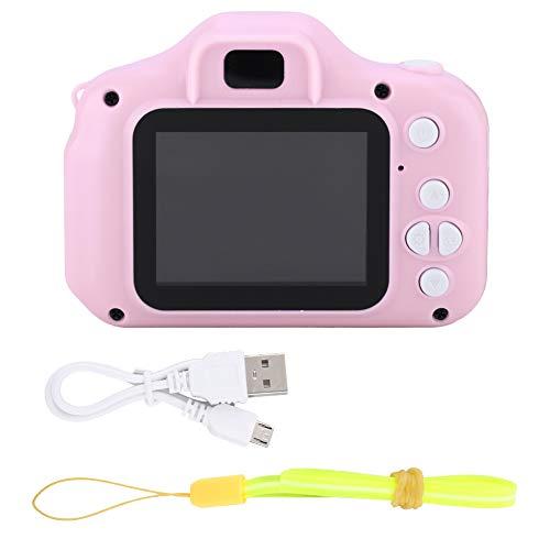 mumisuto Fotocamera Digitale 1080p per Bambini, X2 Mini Portable 2.0 Pollici IPS Schermo a Colori Fotocamera Digitale per Bambini HD, Regalo Perfetto per i Bambini(Rosa)