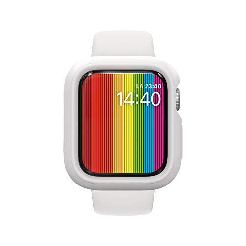 RhinoShield Apple Watch Series4/5/6/SE [44mm用] 保護ケース | 衝撃吸収 傷防止 スリムデザイン BPAフリー [1.2Mの耐落下衝撃] - ホワイト