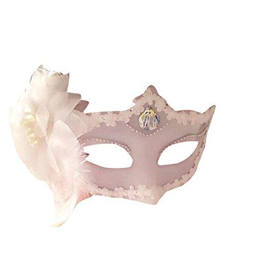 Venezianische Venetianische Weiß mit Muschel und Blume glänzend Glitzer Maske Maskerade Masken Ball Karneval Kostüm Fasching Verkleidung Shades of Grey Mr Grey Herren Damen Männer Frauen Funkelnd