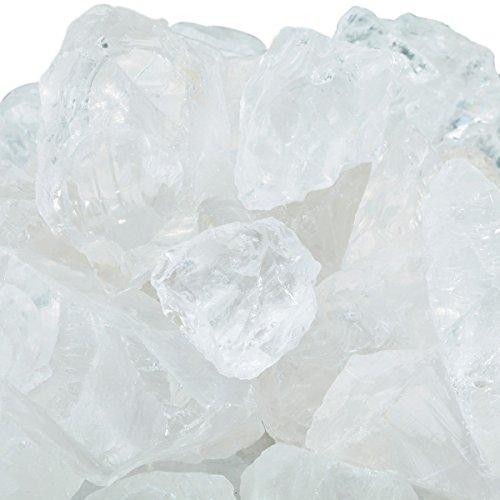 Rockcloud 1 lb Natural Crystals Raw Rough Stones for Cabbing,Tumbling,Cutting,Lapidary,Polishing,Reiki Crytsal Healing,Clear Crystal Rock Quartz