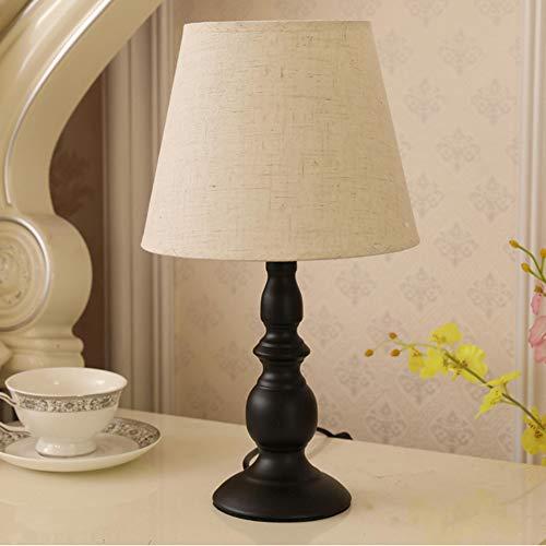 Bedlampje, 5WLED Knop Schakelaar Met Een Lichtbron Geschikt Voor Het Leven Slaapkamer Lampenkappen,Black