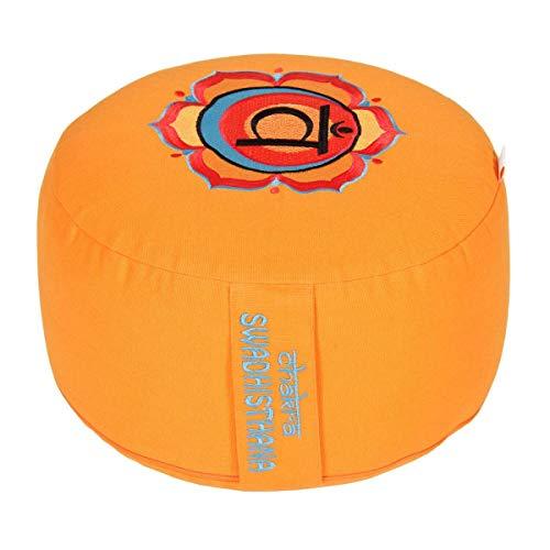 Yogabox Meditationskissen Glückssitz Chakra, 2.Chakra Sakral-Chakra (Swadhisthana) / orange
