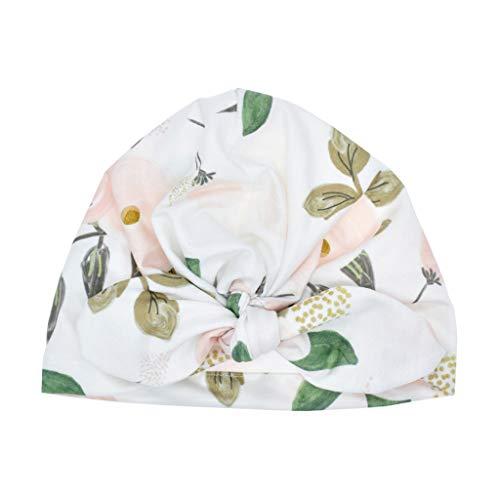 Lazzboy Baby Boy Girl Sun Hat Floral Bowknot Cap Toddler Turban Photo Props Mütze Neugeborene Weich Baumwolle Kleinkind Stirnbänder Mädchen Stirnband(C)