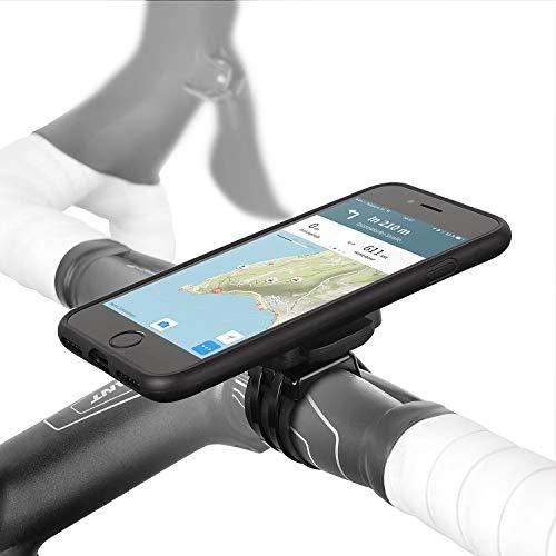 Wicked Chili QuickMOUNT Fahrrad Halterung kompatibel mit iPhone SE 2, iPhone 8 und iPhone 7 (4,7 Zoll iPhone) Bike Mount Kit aus Outdoor Case, Regen Hülle und Lenker/Vorbau Halter, schwarz
