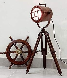 Vintage Desk Table Lamp Antique Copper Spotlight tripod desk lamps home & Office Decor