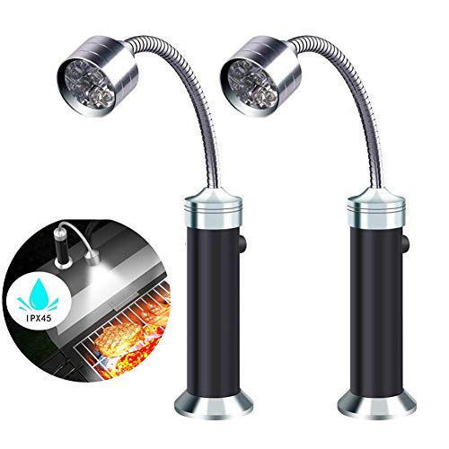 FBve Barbecue Grill Light, 2 Pack Magnetic Base Ultra-Bright LED Grill Lights, 360 Degree Flexible...