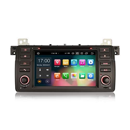 Erisin 7 Zoll Android 10.0 Autoradio Für BMW Serie 3 E46 M3 Rover75 MG Zt Halterung GPS Navi Carplay Android Auto Dsp Bluetooth Wifi DAB+ TPMS 8-Core 4 GB RAM+64 GB ROM