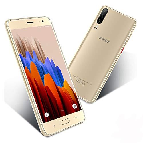 Smartphone 5,5 '' Zoll Display 16GB/128 ROM Erweiterbar Android 9.0 Zertifiziert von Google GMS 4G Smartphone ohne Vertrag Günstig 4800mAh Quad Core Dual-SIM 8Mp Kamera Face ID Android Handy(Gold)