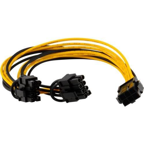 Tutoy Pci-E 6-Pin Zu 2X 6 + 2-Pin (6-Pin / 8-Pin) Power Splitter Kabel Pcie Pci Express