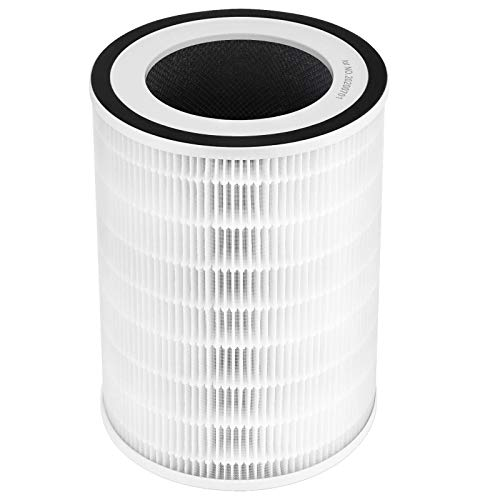 isinlive iL-60D Air Purifier Replacement Filter, True HEPA Filter, Activated Carbon Filter for Whole Home Air Purifiers, Clean Air Dust Filter (Pack of 1)