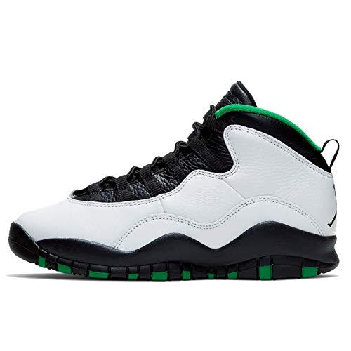 Nike Air Jordan 10 X Seattle GS Grade School Kids Youth 310806-137 US Size 5.5Y White