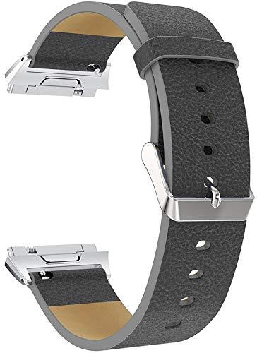 Gransho Correa de Reloj Compatible con Fitbit Ionic, Cross Piel Correa/Banda/Pulsera/Reemplazo (Pattern 3)