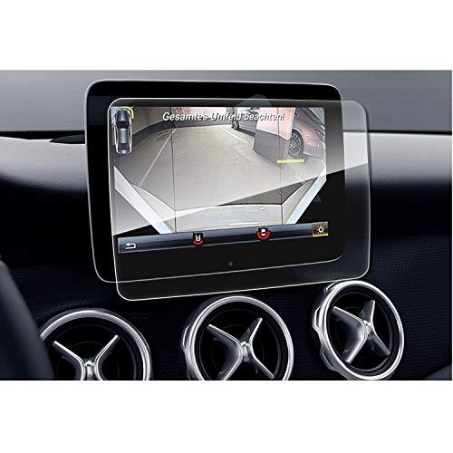 SHAOHAO Protector de pantalla para Mercedes Benz GLE GLS GLA CLA de 8 pulgadas GPS transparente, resistente a los arañazos 9H antihuellas