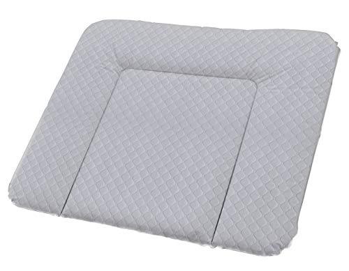 Rotho Babydesign Tapis à Langer Matelassé, Royal, À partir de 0 mois, 85x72x7cm, Argent, 204430168CI