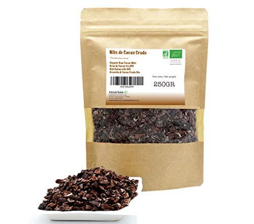 FRISAFRAN - Cacao Ecológico (Nibs de Cacao Crudo, 250Gr)