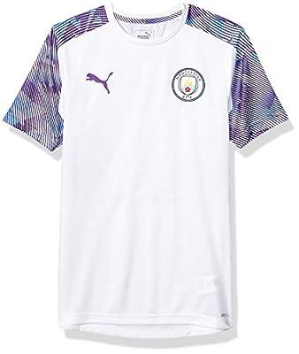 PUMA Mens International Soccer Manchester City Official Training Jersey Manchester City, PUMA White/Tillandsia Purple, Large