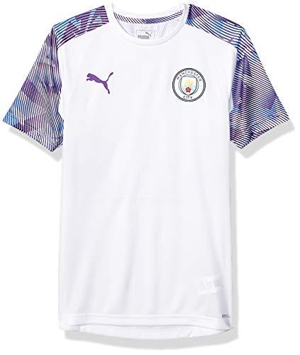 PUMA Mens International Soccer Manchester City Official Training Jersey Manchester City, PUMA White/Tillandsia Purple, X-Small