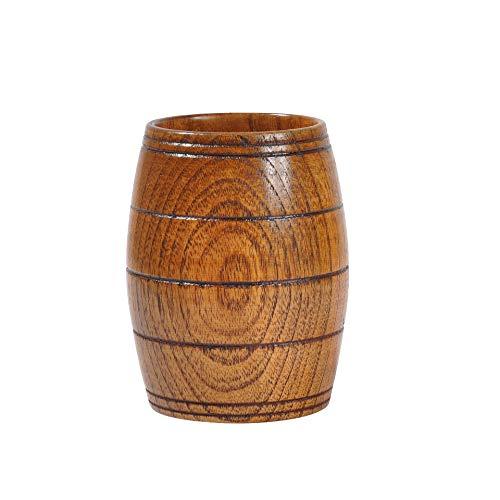 RTY Taza de madera creativa hecha a mano para hacer troncos antiescaldantes, taza de té de vino, barril de cerveza, 200 ml