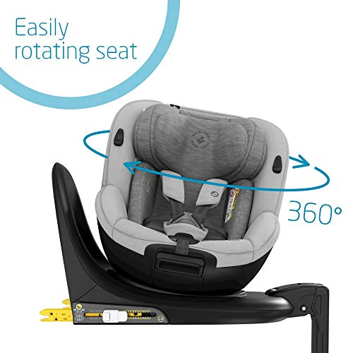 Maxi-Cosi Mica 360° Rotative Car Seat with ISOFIX, Convertible, Rearward and Forward Facing, from Birth Until 4 Years, 40-105 cm, Authentic Grey