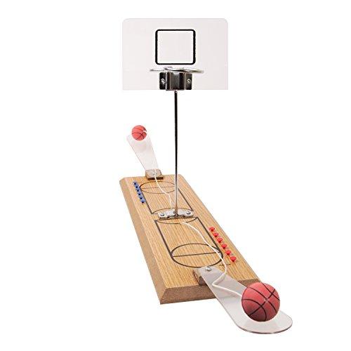 Global Gizmos 50470Twin Desktop Basketball gratis Überwurf Spiel