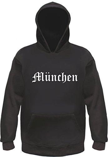 HB_Druck MÜNCHEN Hoodie Kapuzensweatshirt L Schwarz