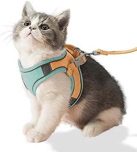 Luminous Anti-Escape Store Cat Vest Seat and Se Harness Belt Leash Fashionable