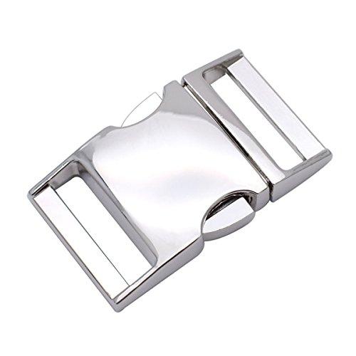 Fibbie con apertura laterale, per cinghie/bracciali in paracord/borse/zaini da 15mm, confezione da 5