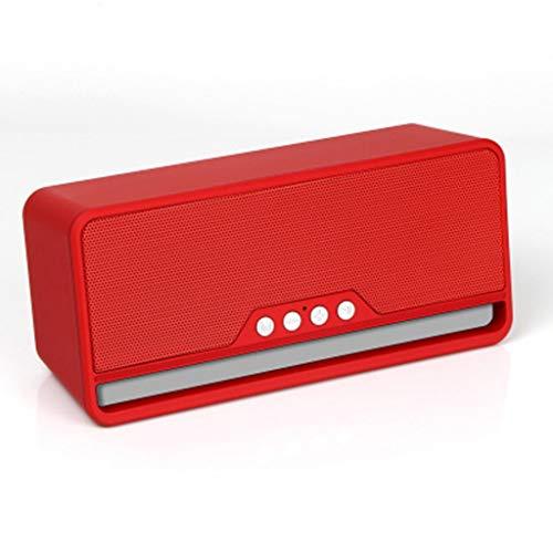 ZJHNZS Altavoz Bluetooth Altavoz inalámbrico Bluetooth subwoofer Ebay Mini teléfono móvil Tarjeta multifunción Fabricantes de Audio Especiales, Rojo