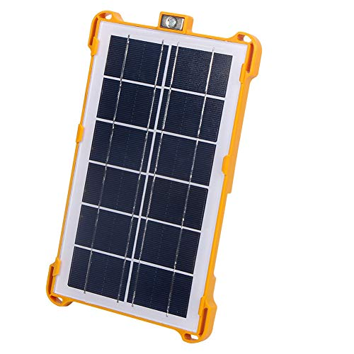 FISHNU Led Solar Backpack Lights Solar Rechargeable Power Bank4 Modes Multi Function Outdoor Work Light Solar Charger for Phones iPad in Camping and Emergency