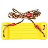 STOBOK Schaukelsitz Set Hängende Baumschaukeln Kunststoff Verstellbare Schaukel Spielzeug mit Seil Outdoor Sport Spielzeug Kinder Geschenk Gelb