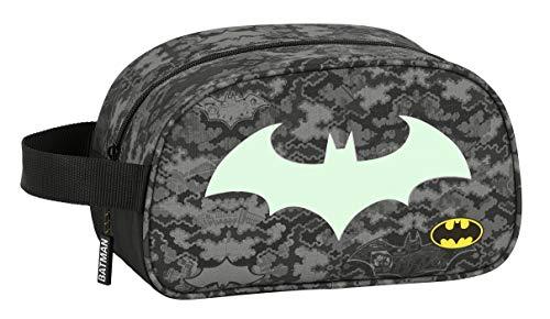 Safta 812004248 Neceser Escolar Infantil Mediano con Asa de Batman Night, 260x120x150mm