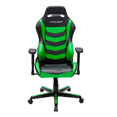 DXRacer Gaming Stuhl, OH/DH166/NE, D-Serie, schwarz-grün