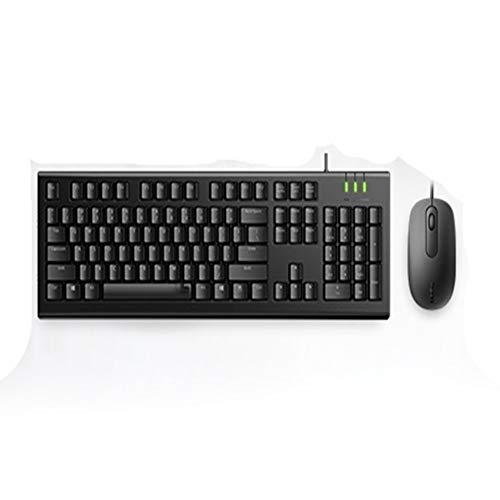 BUTTERFLYSILK USB-toetsenbord bedraad [comfortabel en duurzaam] full-size toetsenbord met 104 sneltoetsen, plug and play, geschikt voor laptops, pc's, computers, Windows Mac, enz. - Zwart