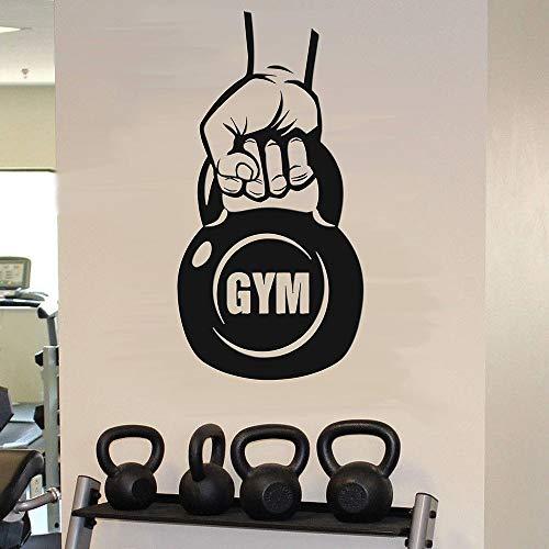 Calcomanías de pared de fitness kettlebells ejercicios de entrenamiento puertas y ventanas de inspiración pegatinas de vinilo gimnasio sala de entrenamiento decoración de interiores
