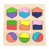 Juguete Educativo de Madera, Juego de Herramientas de Aprendizaje temprano a Juego de Bloques de Forma geométrica y Juego cognitivo(#2)