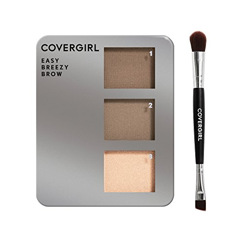COVERGIRL Easy Breezy Brow Powder Kit, Soft Brown (packaging may vary)